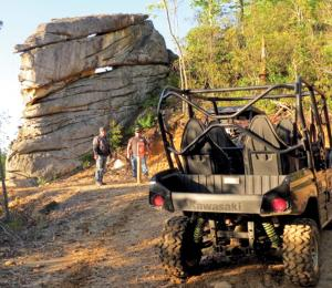2017.location.spearhead-trail-stone-mountain-trail-system.kawasaki-mule.parked.on-trail.jpg